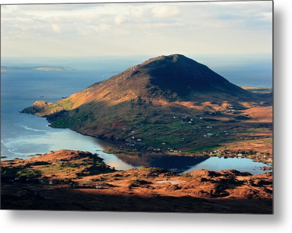 Sunset Reflection In Connemara Ireland Metal Print by Pierre Leclerc Photography