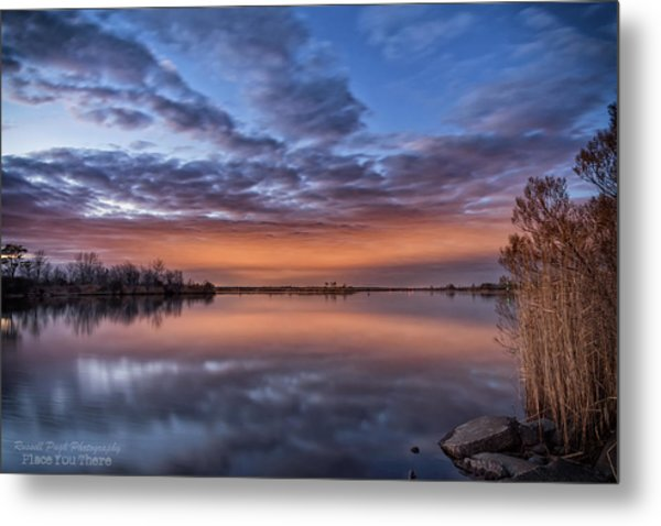 Sunset Reflection Metal Print