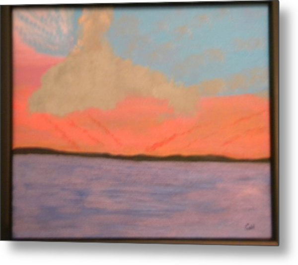 Sunset Reflections Metal Print by Chris Heitzman