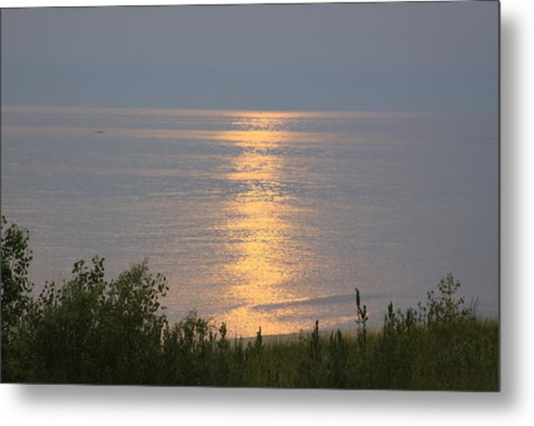 Sunset Reflections Metal Print by Chuck Bailey