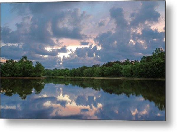 Metal Print featuring the photograph Sunset Reflections by Lori Coleman