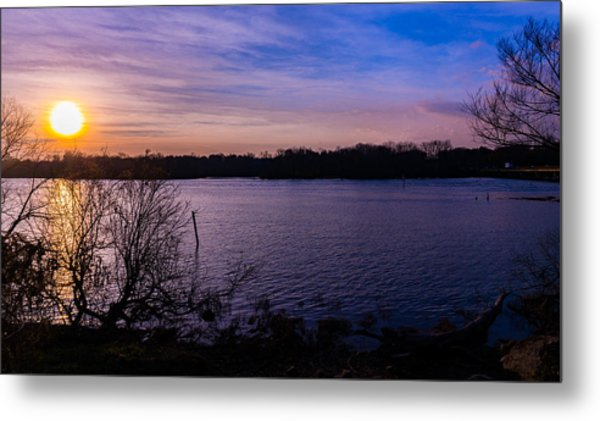 Sunset River Metal Print