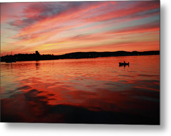 Sunset Row Metal Print