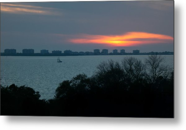 Sunset Sail On Sarasota Bay Metal Print