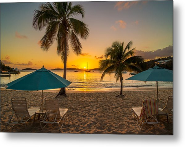 Sunset Secret Harbor Metal Print