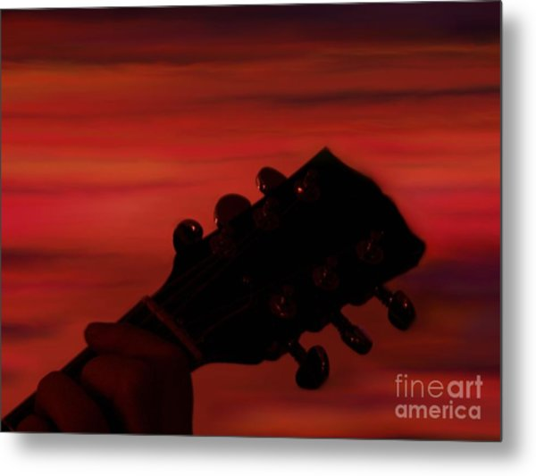 Sunset Serenade Metal Print