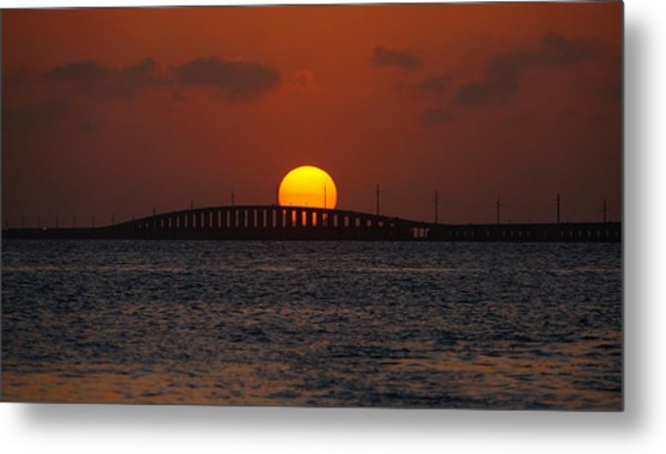 Sunset Seven Mile Bridge Metal Print