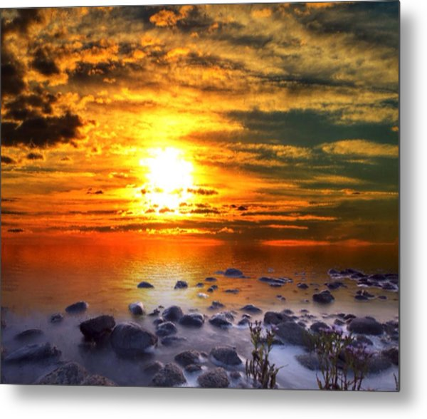 Sunset Shoreline Metal Print