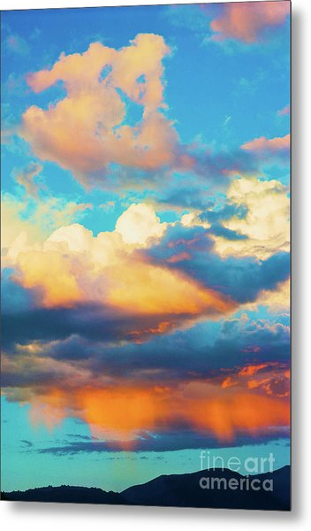 Sunset Showers Metal Print