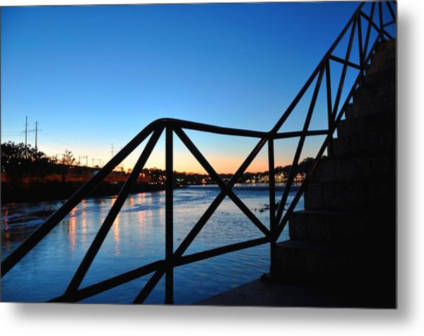 Sunset Staircase Metal Print by Andrew Dinh
