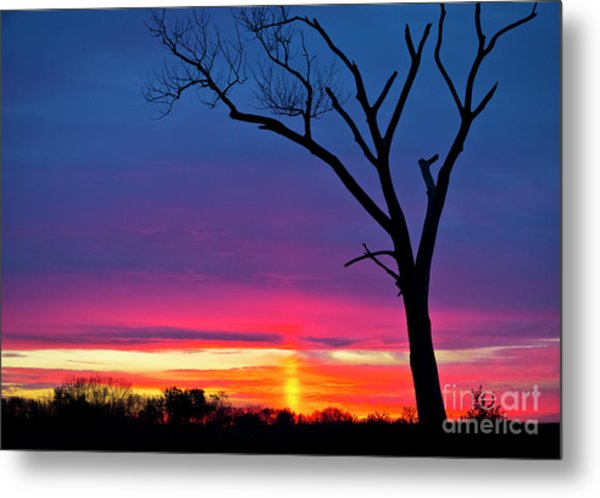 Sunset Sundog  Metal Print
