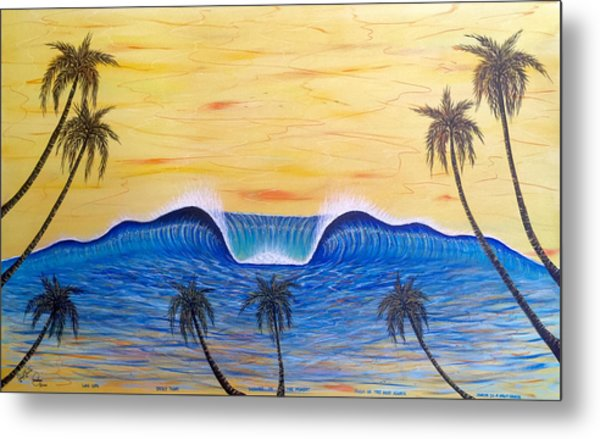Sunset Surf Dream Metal Print