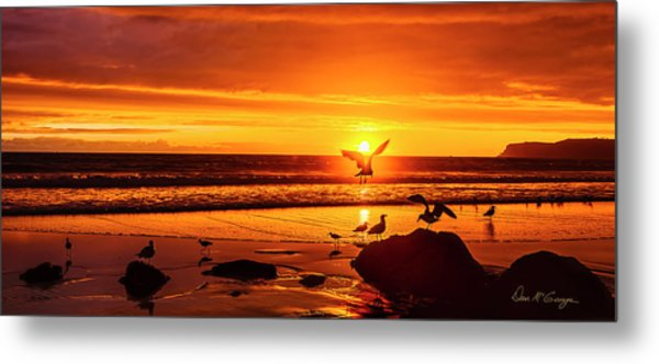 Sunset Surprise Pano Metal Print