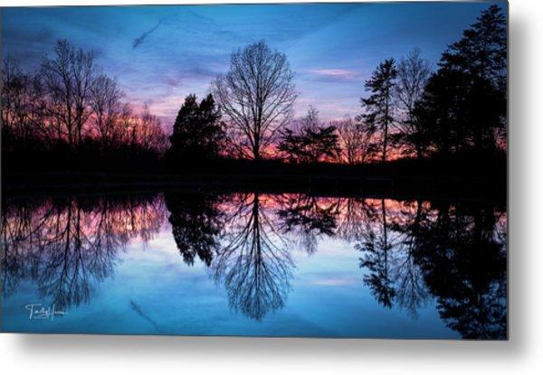Sunset Symmetry Metal Print