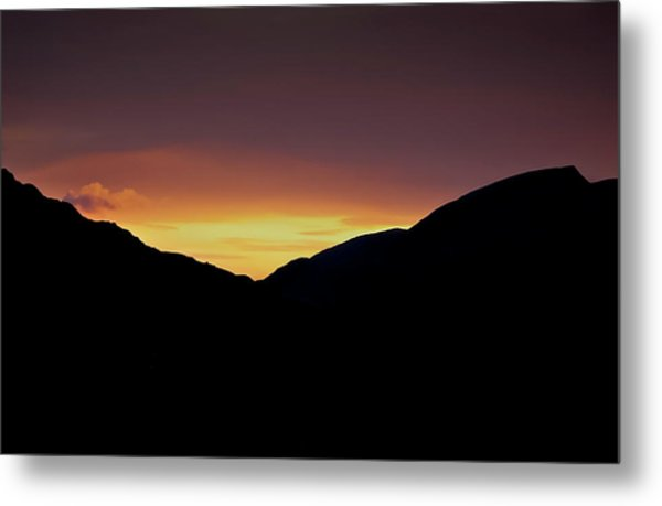 Sunset Through The Gap Metal Print