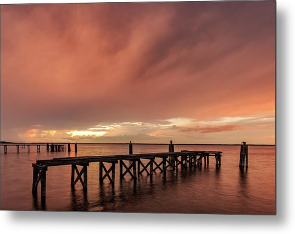 Sunset Thru Storm Clouds Metal Print