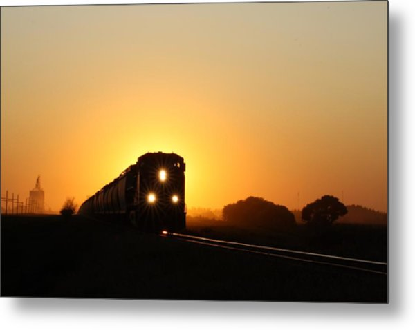 Sunset Express Metal Print