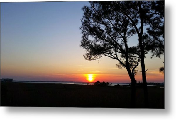 Sunset View From Knights Of Columbus' Deck Metal Print