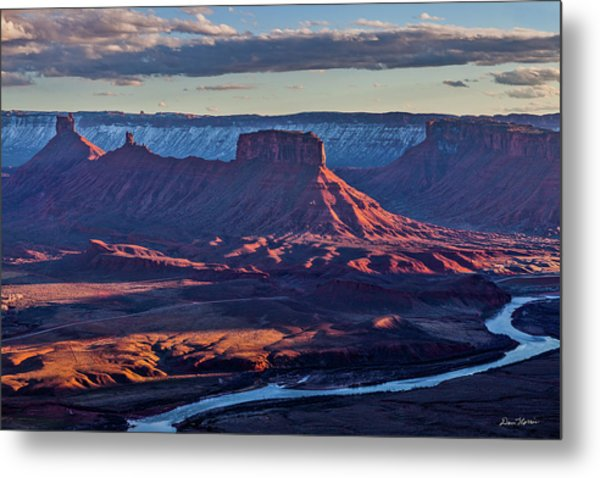 Sunset View From Omg Point Metal Print