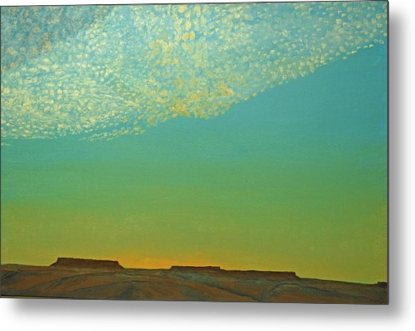 Sunset With Alto Cumulous Metal Print