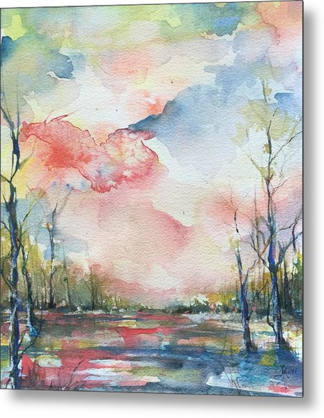 Sunsets Grace On The River Metal Print