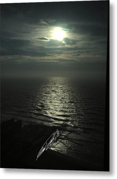 Sunshine Over Central Pier, Atlantic City, Nj Metal Print