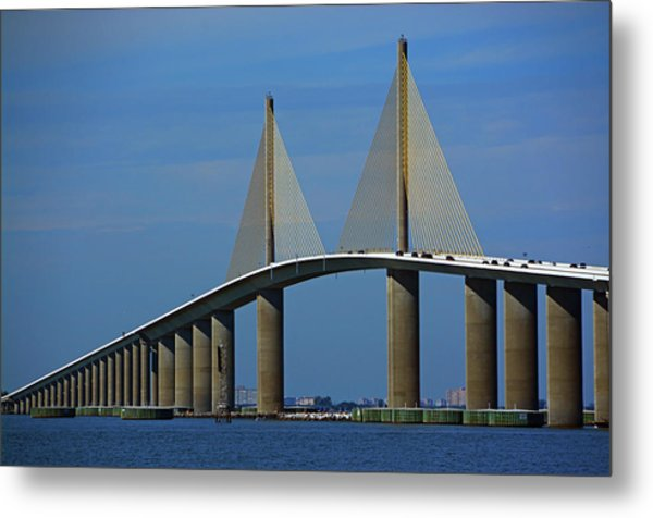 Sunshine Skyway Bridge Metal Print