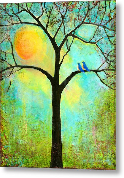 Sunshine Tree Metal Print