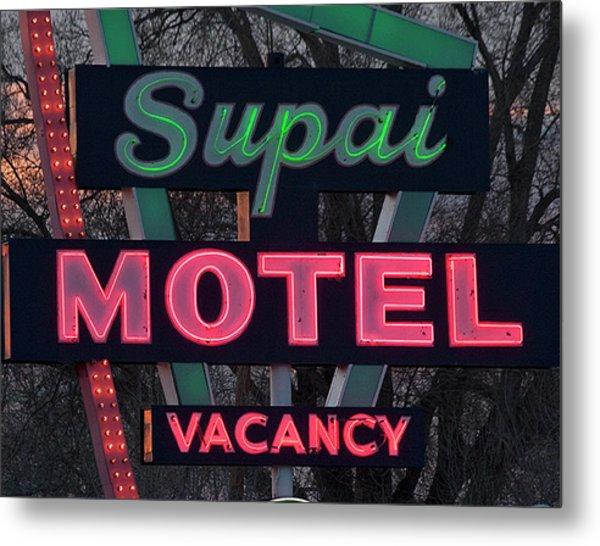 Supai Motel Neon Metal Print