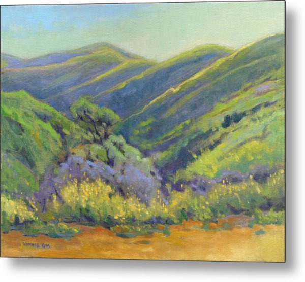 Metal Print featuring the painting Super Bloom 2 by Konnie Kim