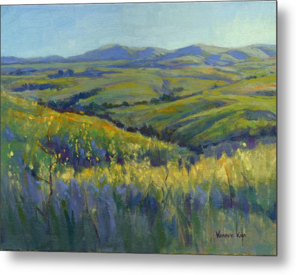 Metal Print featuring the painting Super Bloom 3 by Konnie Kim