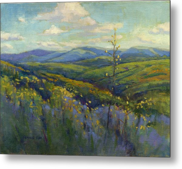 Metal Print featuring the painting Super Bloom 4 by Konnie Kim