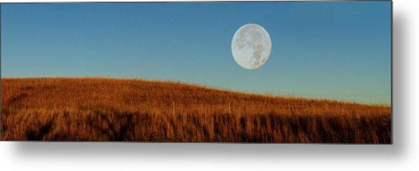 Super Moon Over The Prairie Metal Print