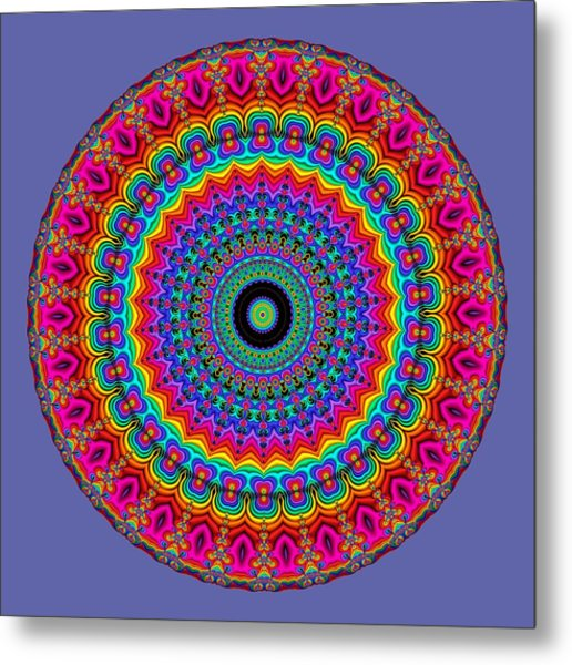 Super Rainbow Mandala Metal Print