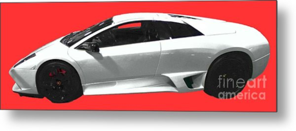Supercar In White Art Metal Print