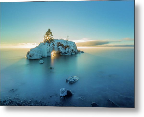 Superior Sunrise // North Shore, Lake Superior  Metal Print