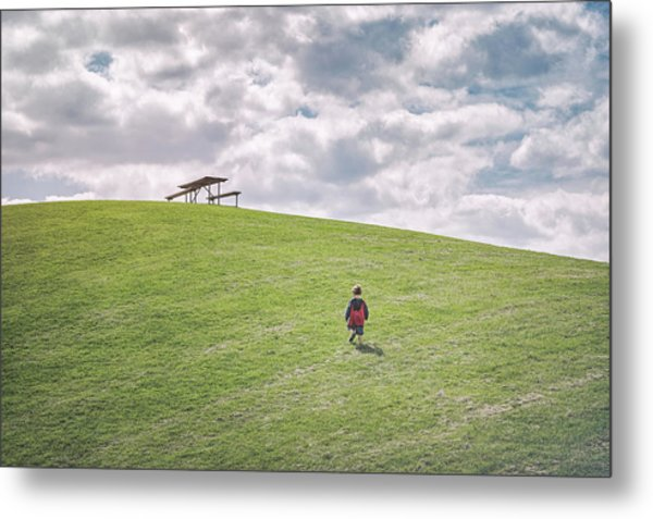 Superman And The Big Hill Metal Print