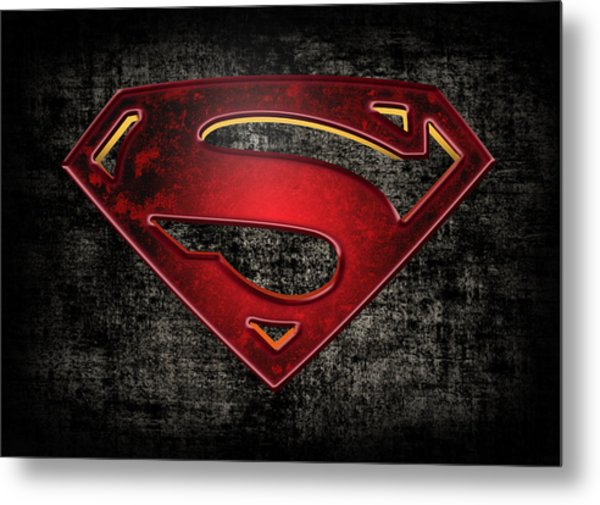 Superman Logo Digital Artwork Metal Print