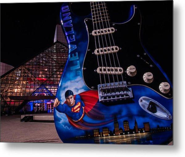 Superman Rocks Metal Print