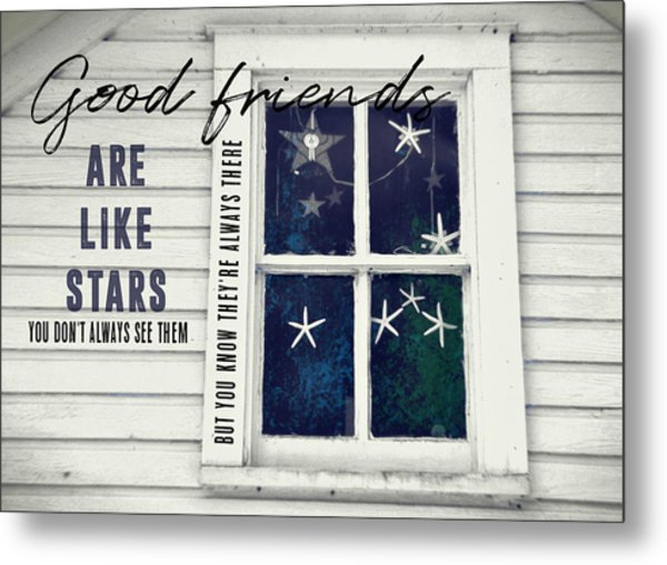 Superstars Quote Metal Print by JAMART Photography