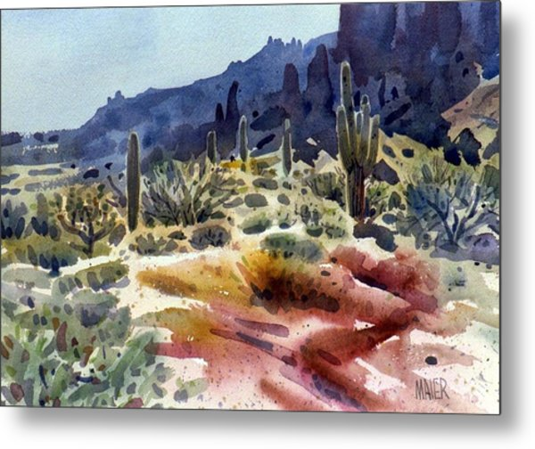 Superstition Mountain Metal Print by Donald Maier
