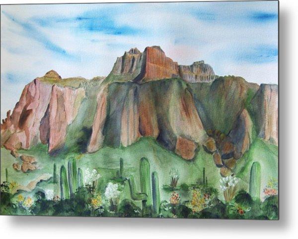 Superstition Mountain Metal Print by Vivian Larson