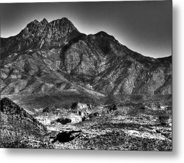 Four Peaks From Lost Dutchman State Park Metal Print