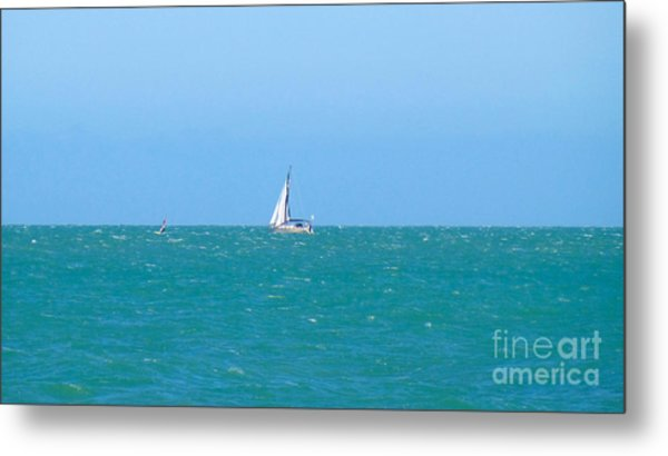 Surf And Sail The Sea Metal Print