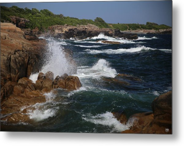 Surf At Biddeford Pool Metal Print