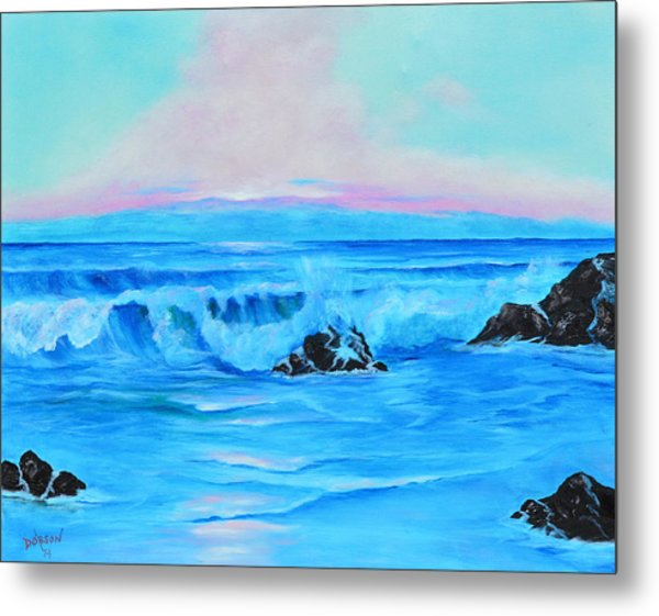 Surf At Sunset  Metal Print