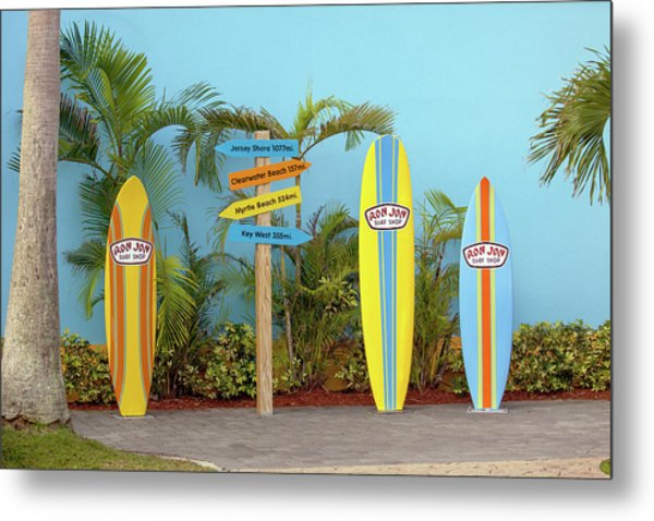 Surf Boards At Ron Jon's Metal Print