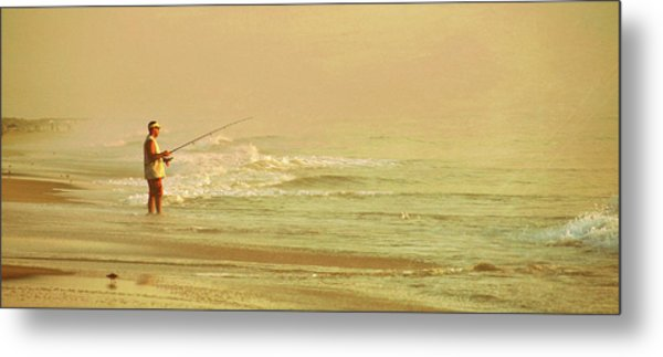 Surf Casting Metal Print by JAMART Photography