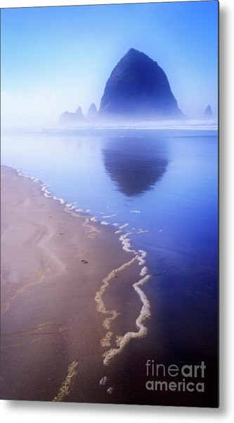 Surf Reflection Metal Print