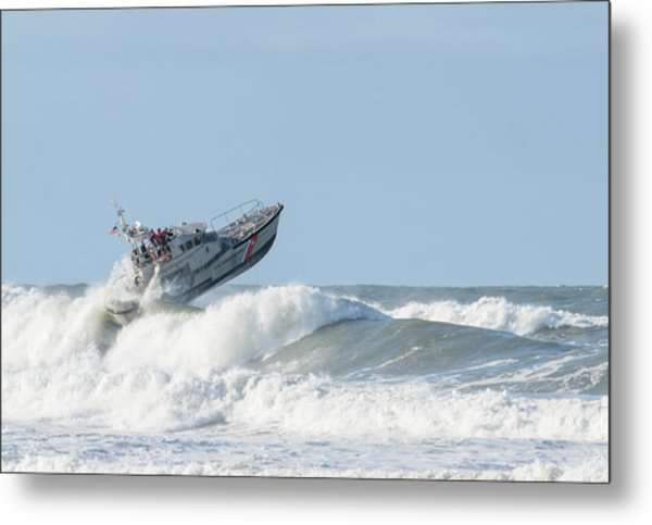 Surf Rescue Boat V2 Metal Print